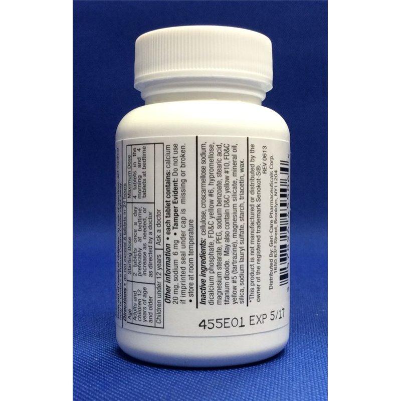 Geri Care 455 06 4052 Senokot S Laxative Tabs 60 S