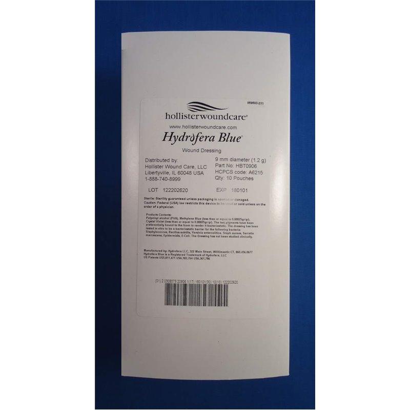 Hollister Incorporated Hbt0906 5038 Foam Hydrofera Blue 9mm